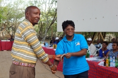 Member receiving an award
